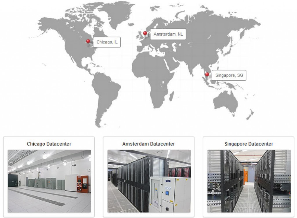 siteground-data-centerlocation map
