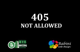 405 Not Allowed
